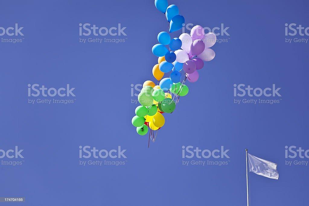Balloons above Oslo. royalty-free stock photo