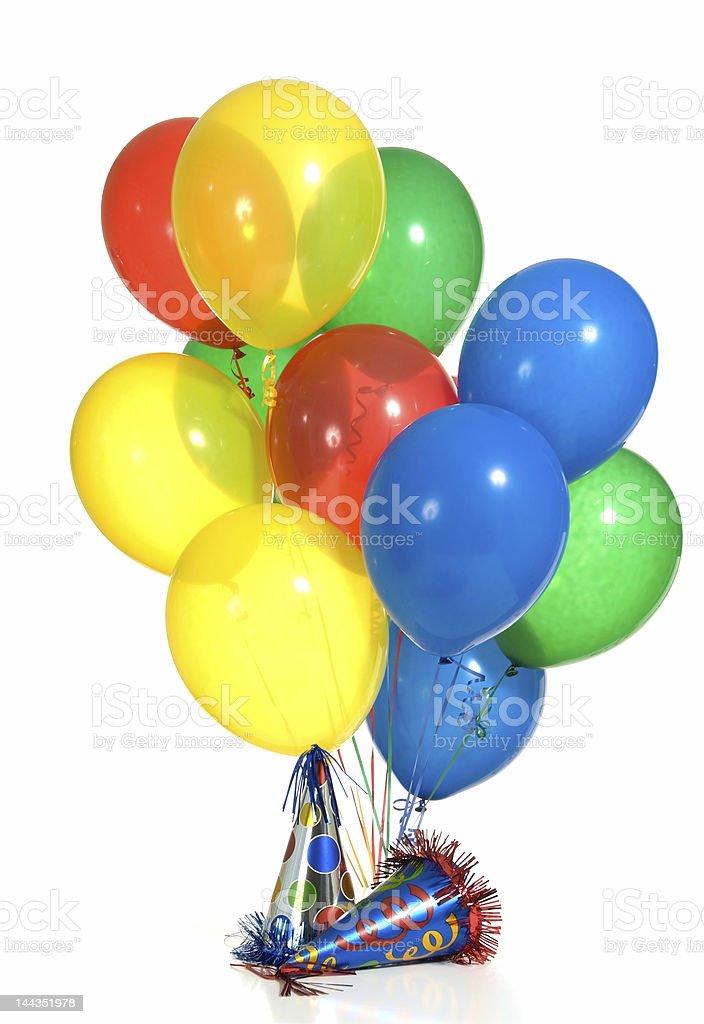 Balloons and hats royalty-free stock photo