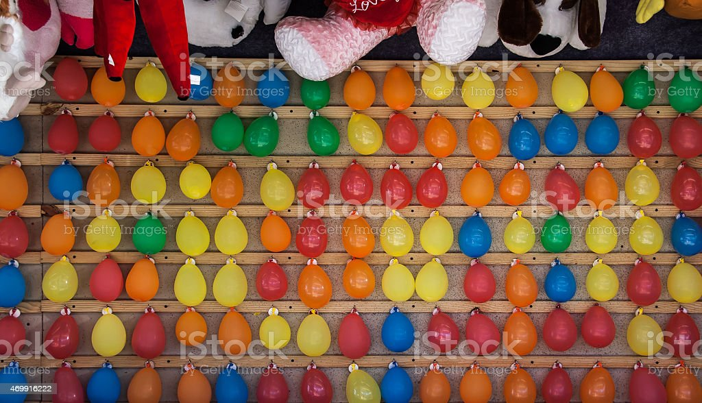 balloons at a fair stock photo