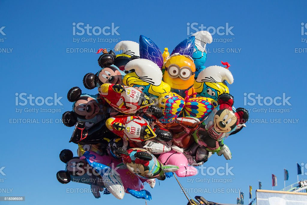 Balloons at Oktoberfest in Munich, Germany, 2015 stock photo