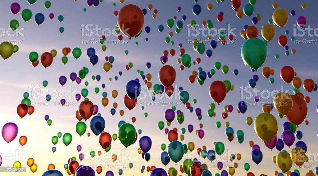 Balloons B01 stock photo