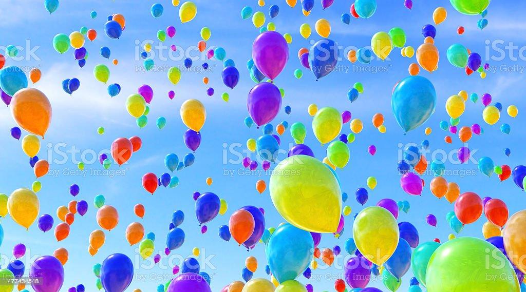 Balloons B06 stock photo