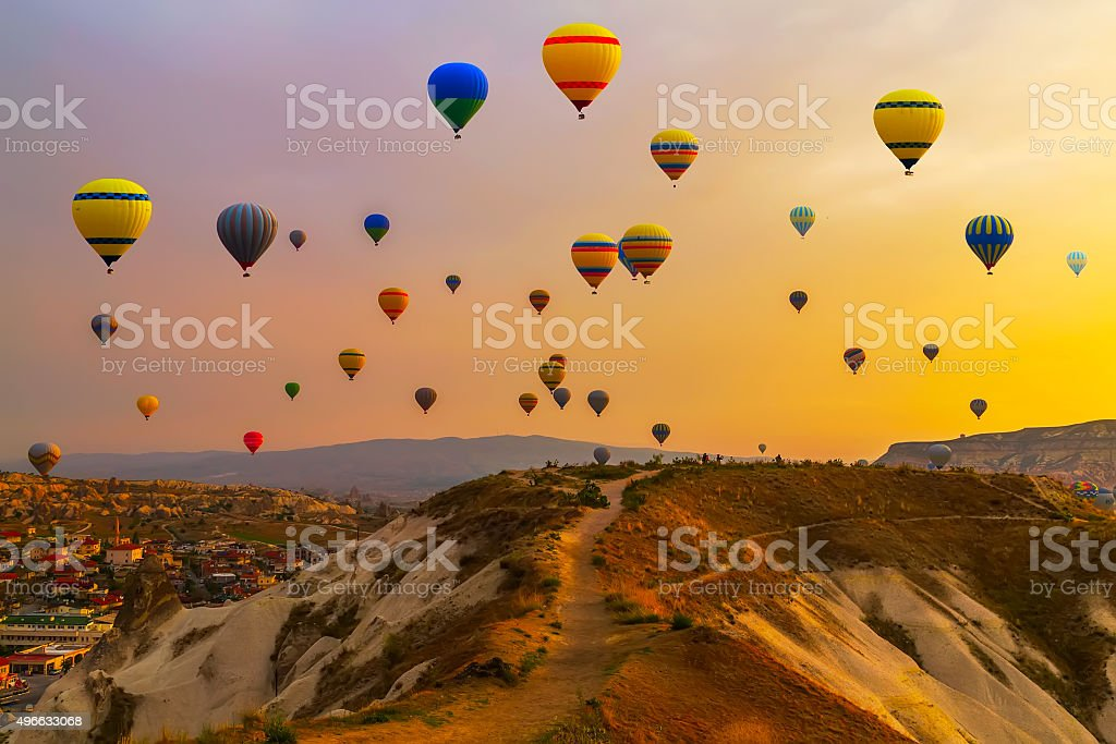 balloons CappadociaTurkey. stock photo