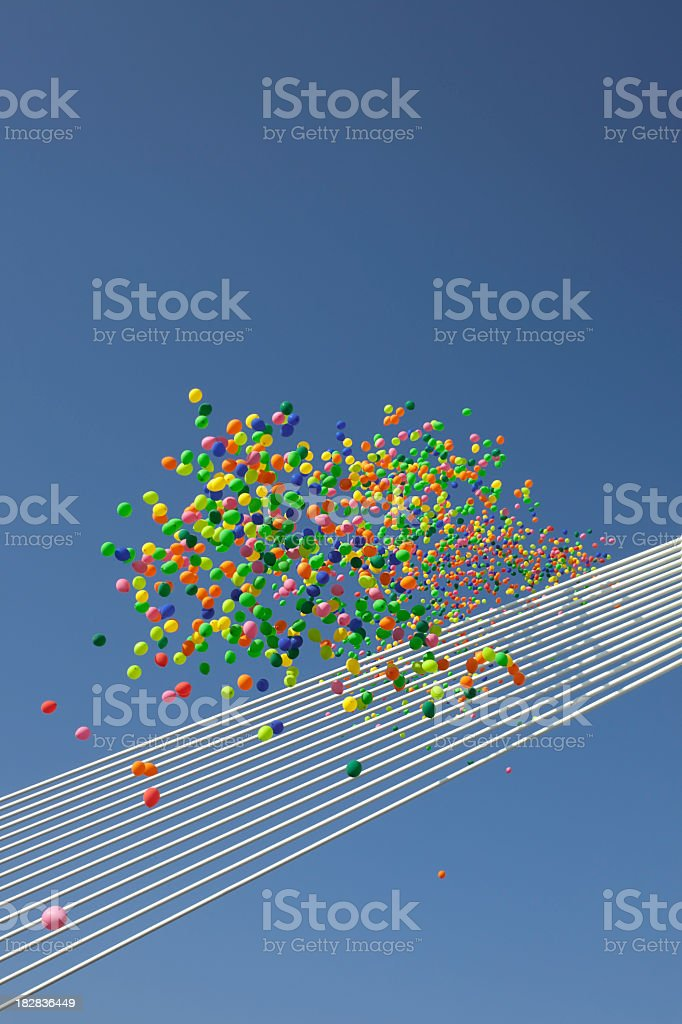Balloons flying royalty-free stock photo