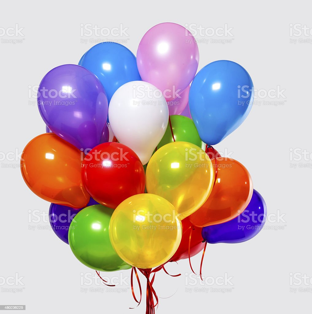 Balloons for party stock photo