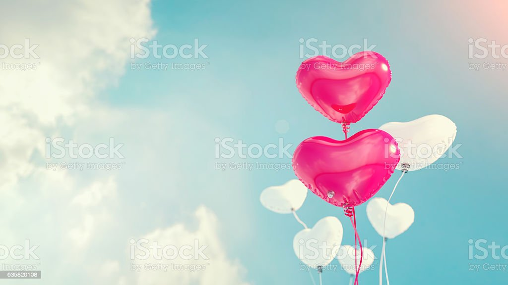Balloons, heart shaped balloons, h stock photo