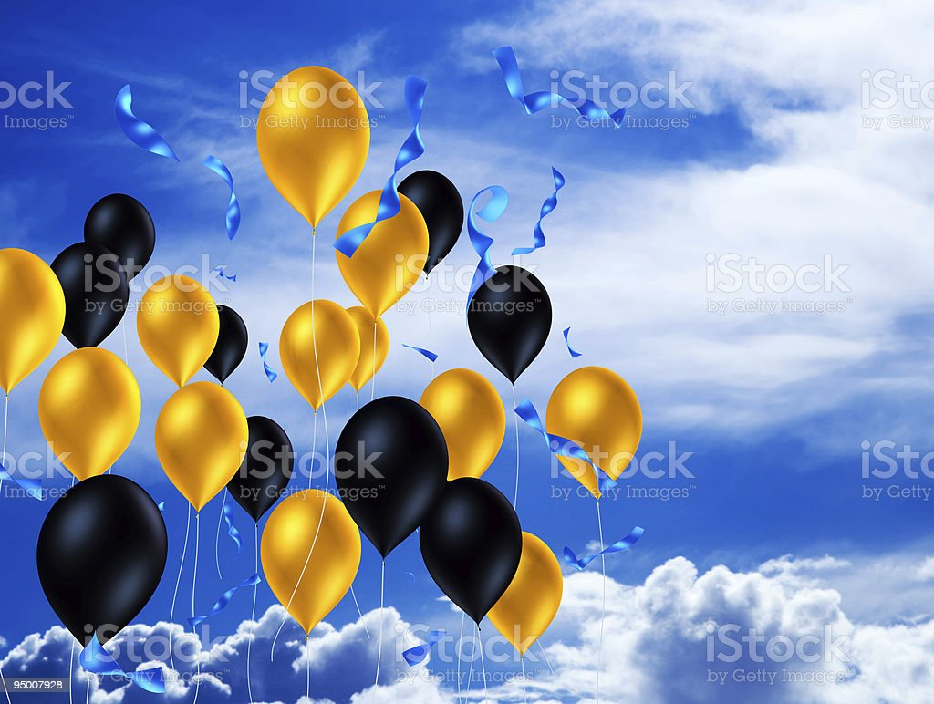 Balloons In The Air royalty-free stock photo