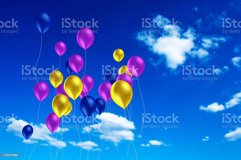 Balloons in the Sky royalty-free stock photo