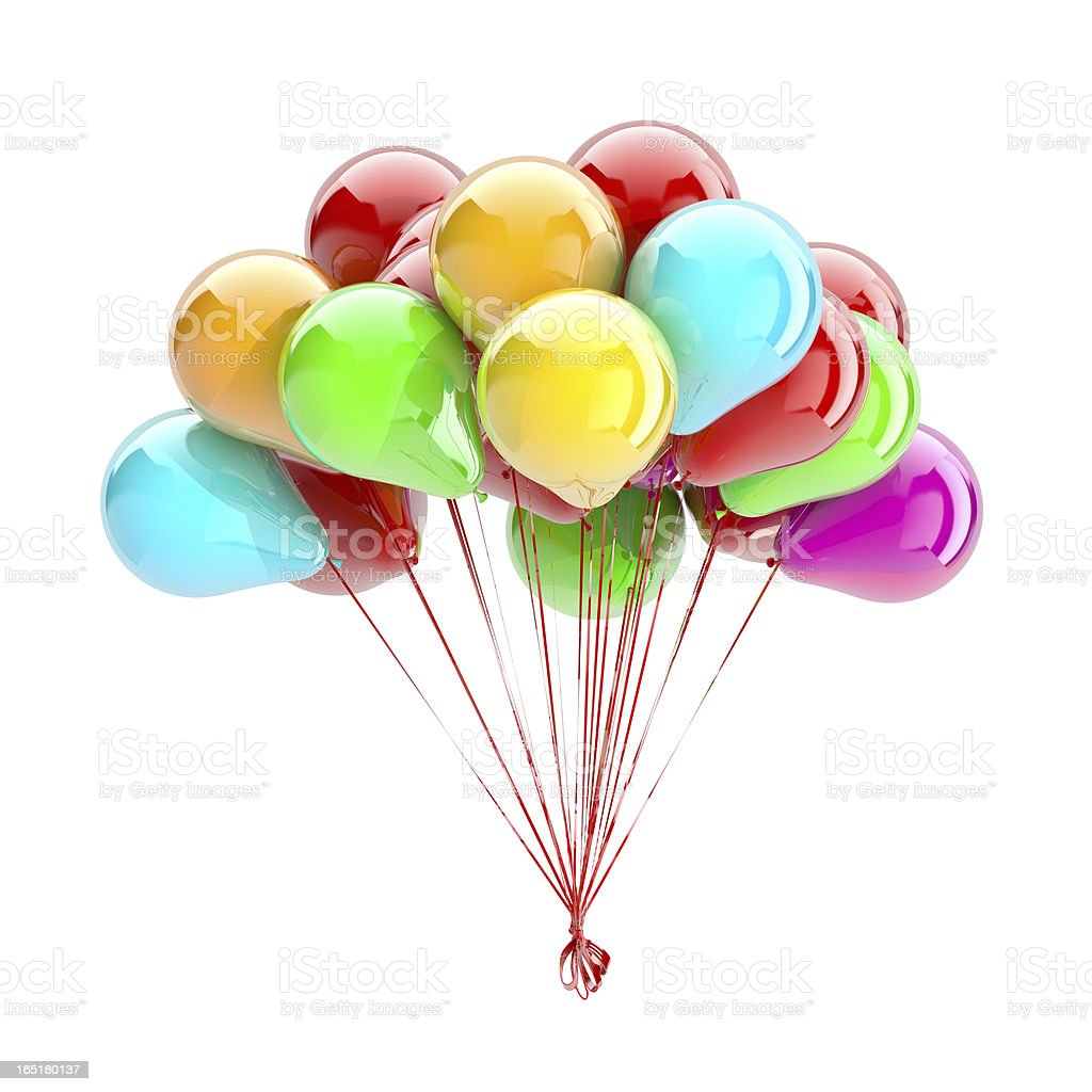 Balloons Isolated On White royalty-free stock photo