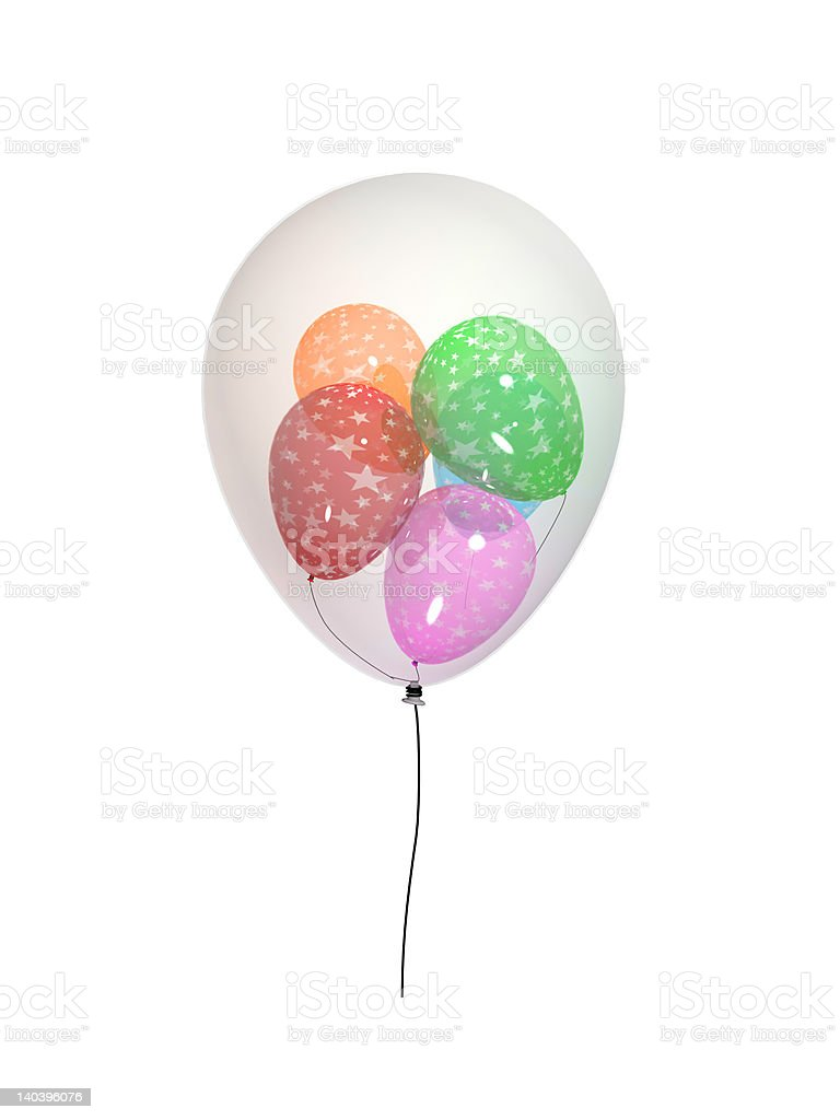 3D balloons nested royalty-free stock photo