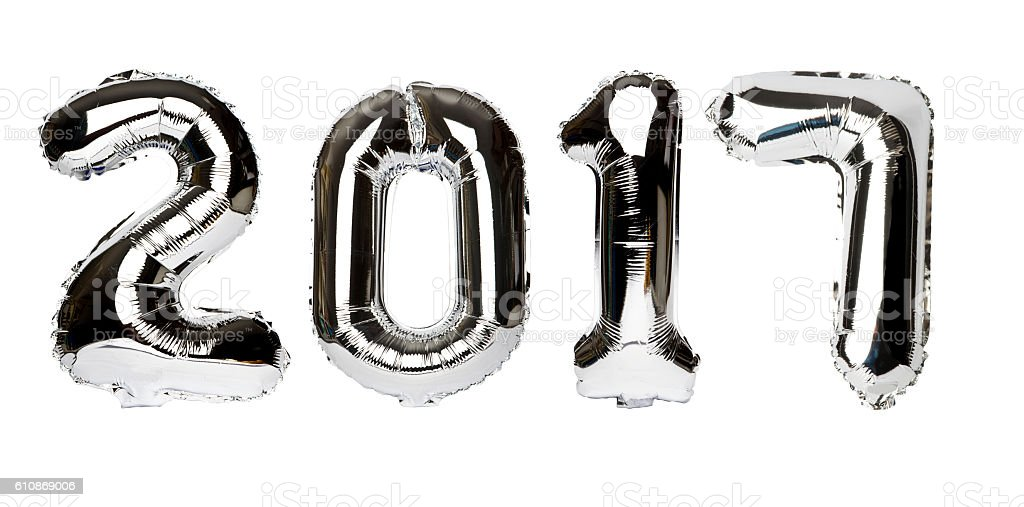 Balloons Numbers made 2017 stock photo