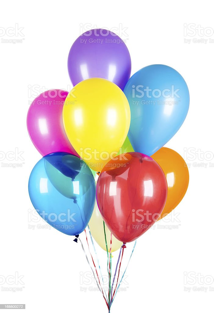 Balloons on a white background royalty-free stock photo
