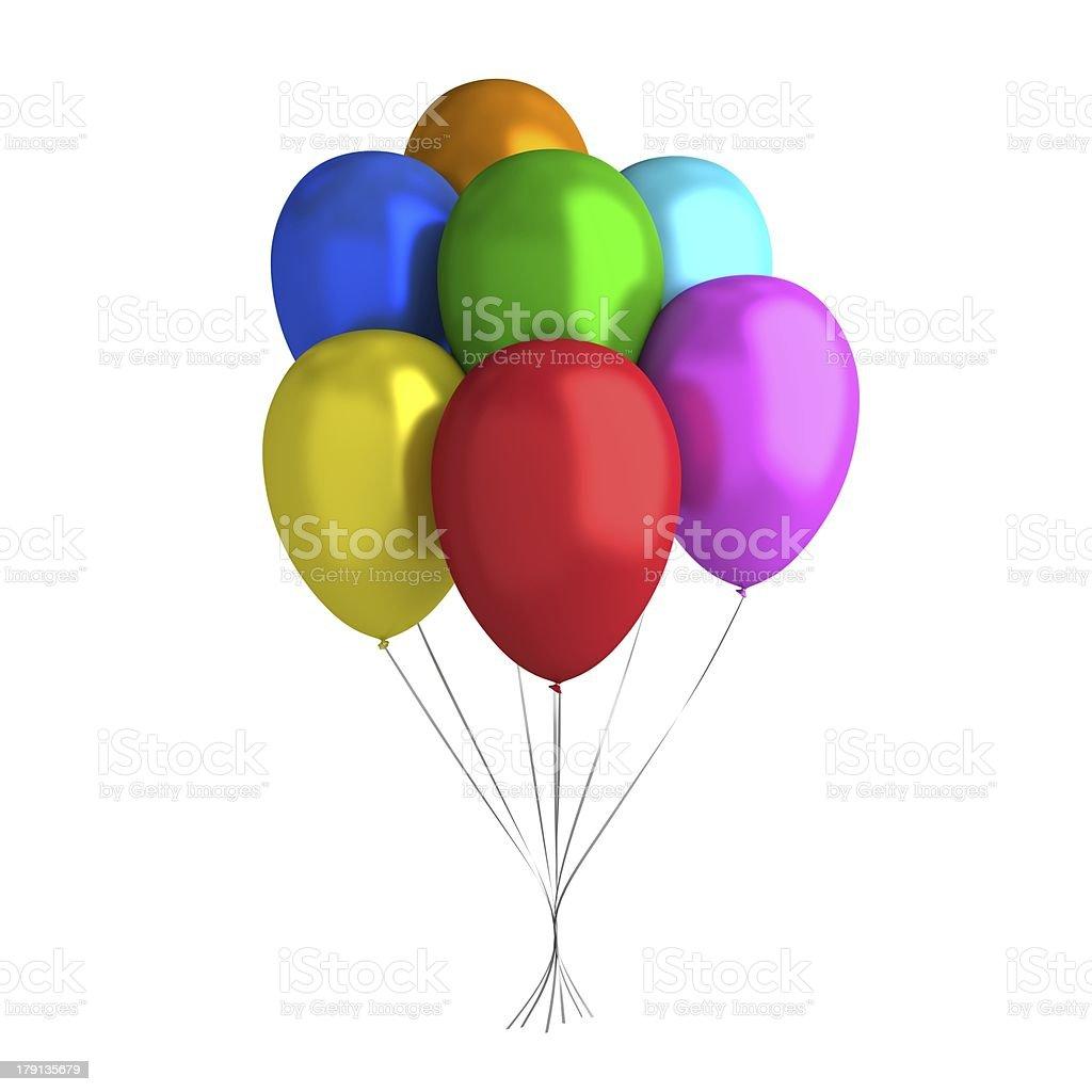 7 Balloons royalty-free stock photo