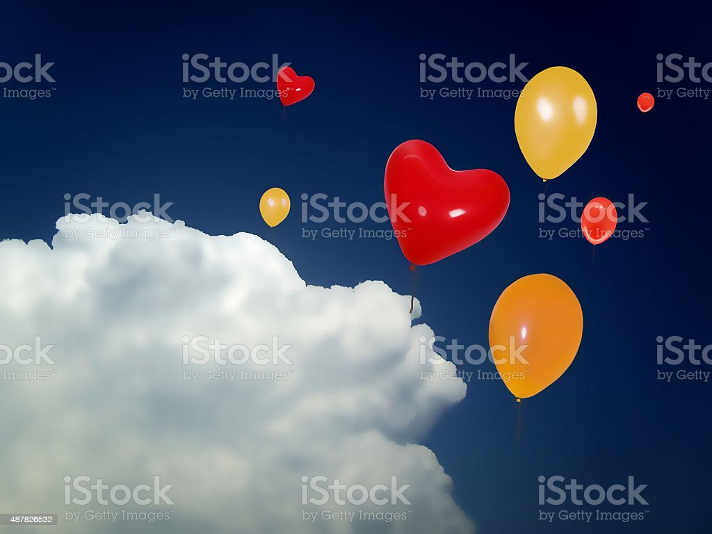 Luftballons stock photo