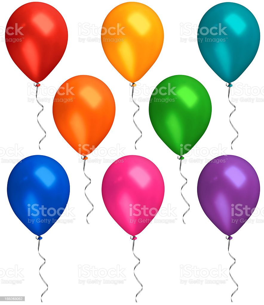 Balloons With Streamers stock photo