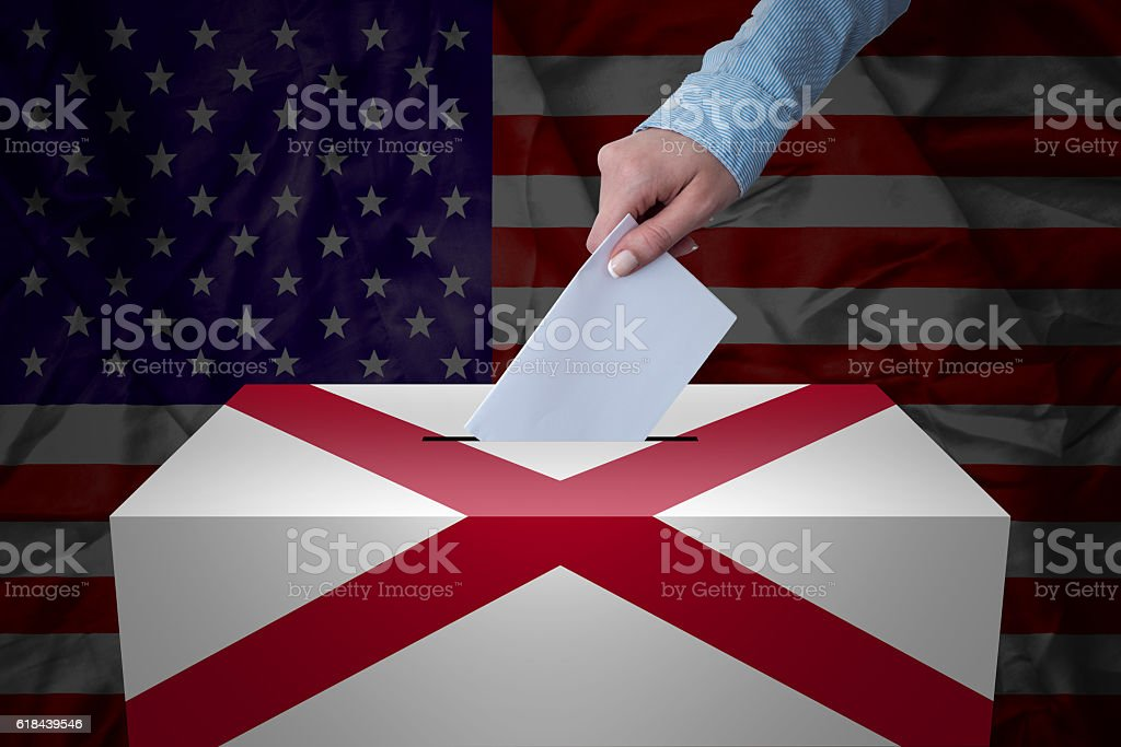 Ballot Box - Election - Alabama, USA stock photo