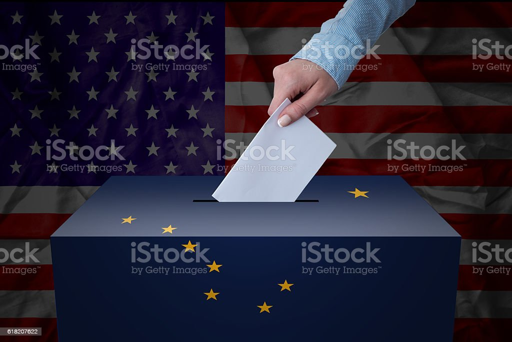 Ballot Box - Election - Alaska, USA stock photo