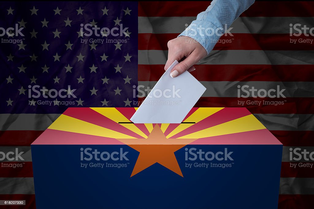 Ballot Box - Election - Arizona, USA stock photo