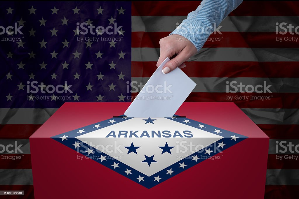 Ballot Box - Election - Arkansas, USA stock photo