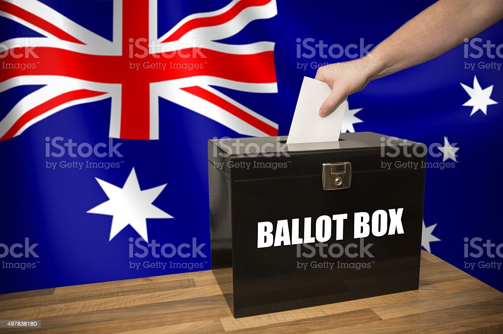 Ballot Box - Election - Australia stock photo