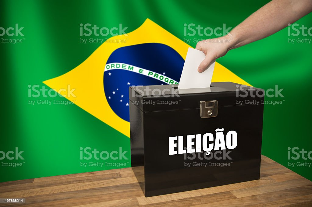 Ballot Box - Election - Brasil stock photo