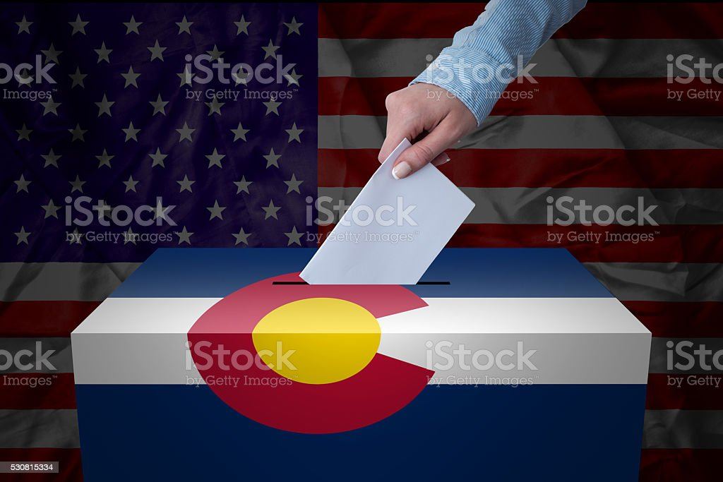 Ballot Box - Election - Colorado, USA stock photo