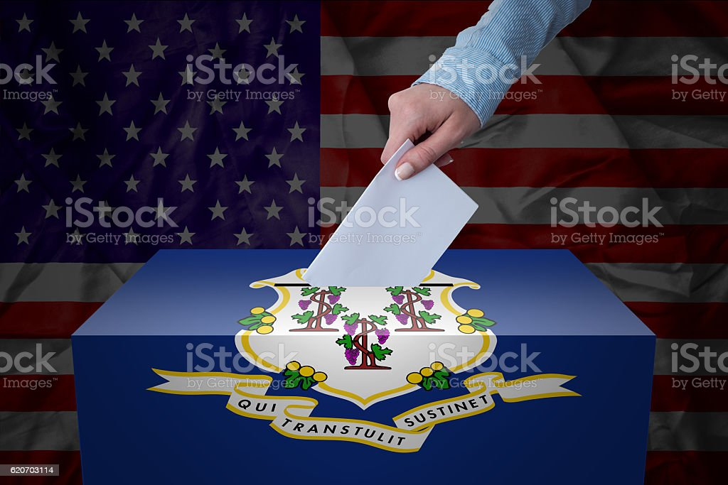 Ballot Box - Election - Connecticut, USA stock photo