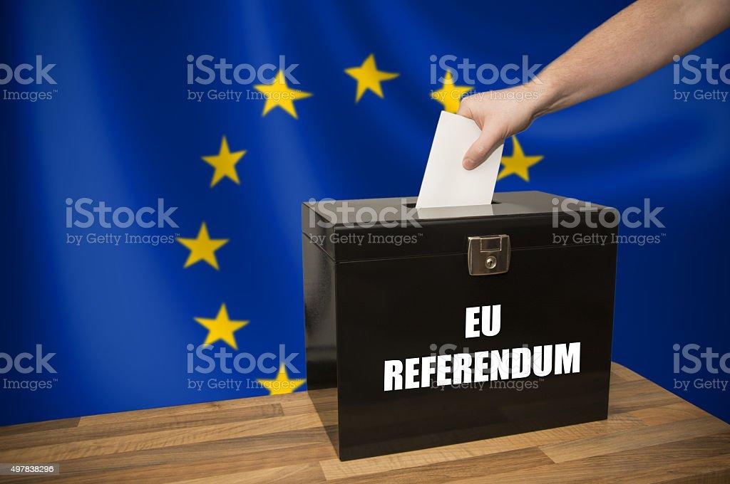 Ballot Box - Election - European Union stock photo