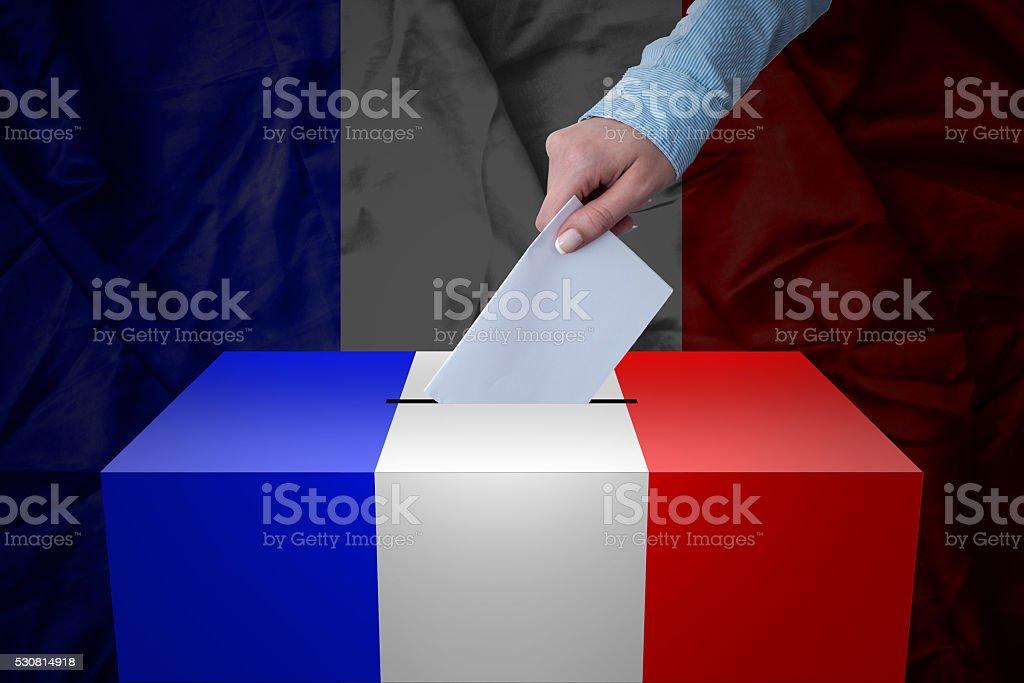 Ballot Box - Election - France stock photo