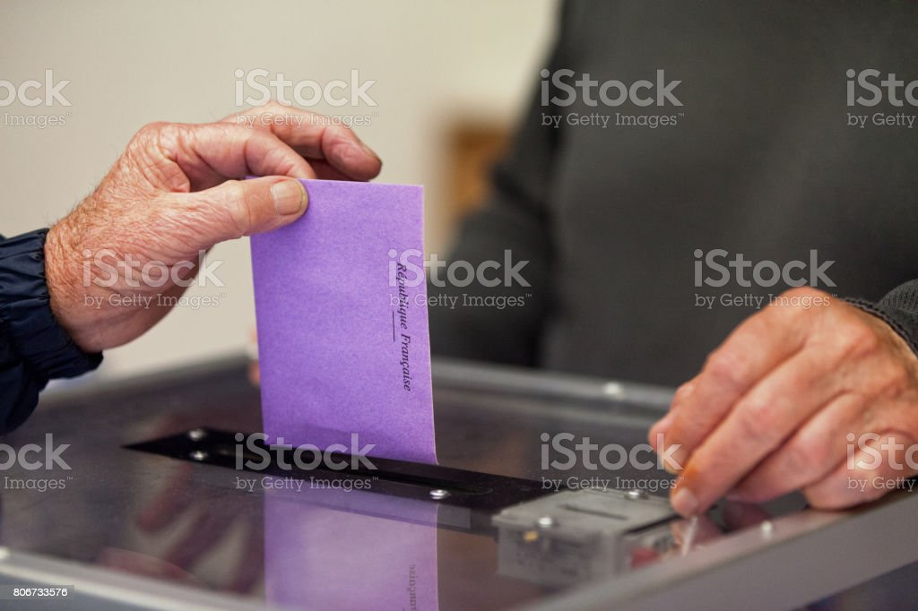 Ballot Box - Election - France stock photo