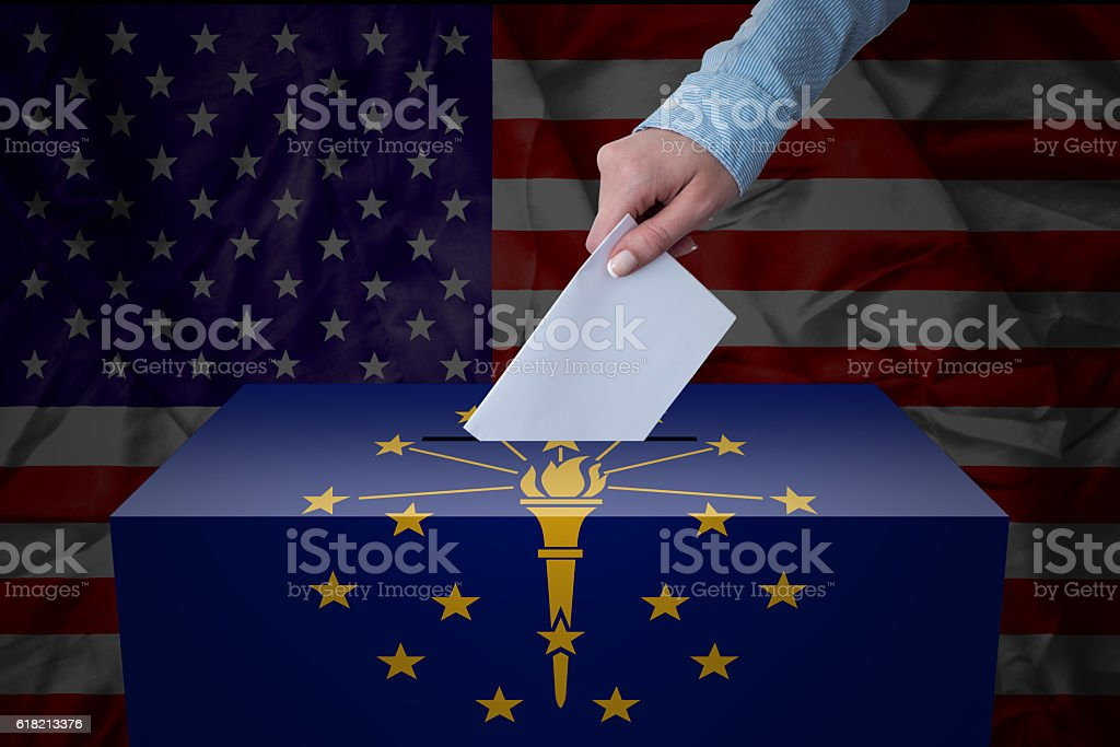 Ballot Box - Election - Indiana, USA stock photo