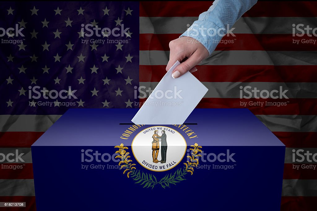 Ballot Box - Election - Kentucky, USA stock photo