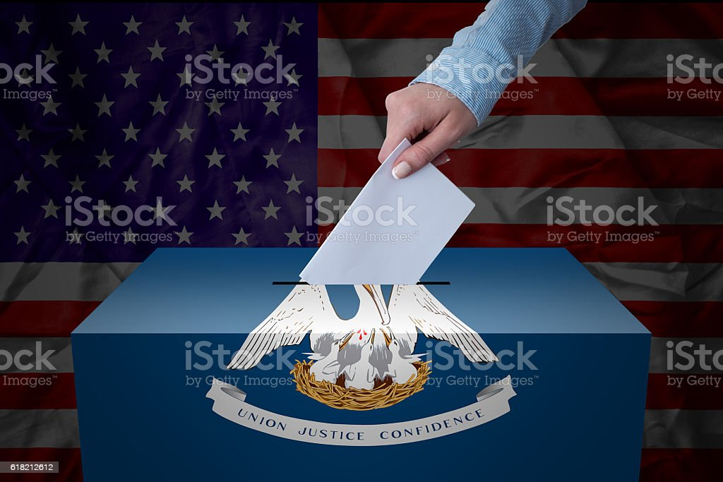 Ballot Box - Election - Louisiana, USA stock photo