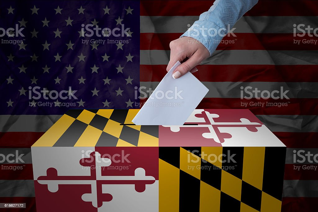 Ballot Box - Election - Maryland, USA stock photo