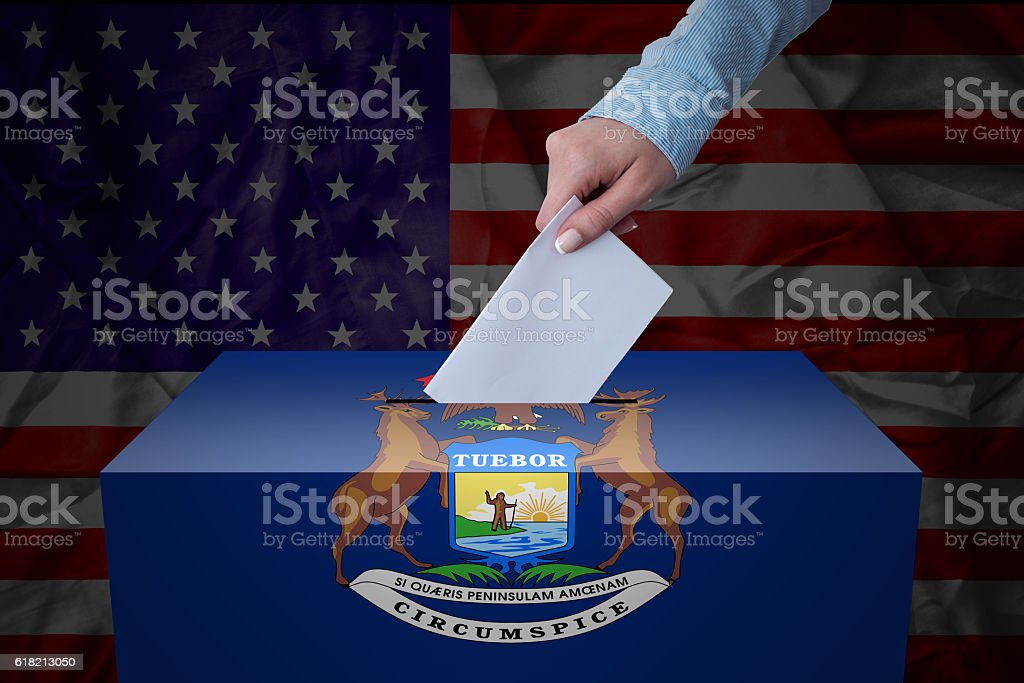 Ballot Box - Election - Michigan, USA stock photo
