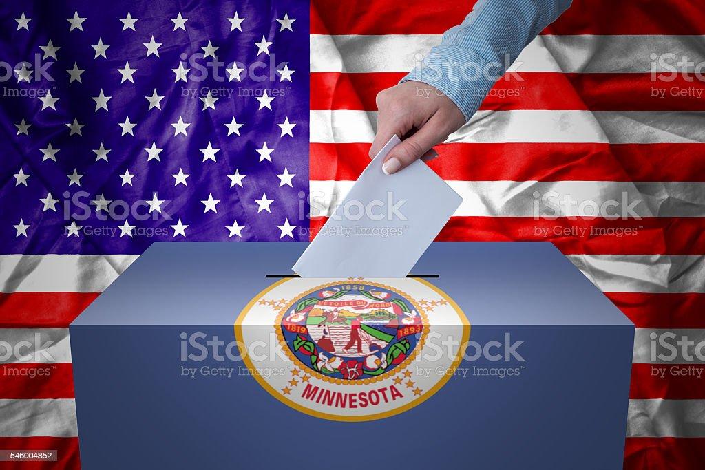 Ballot Box - Election - Minesota, USA stock photo