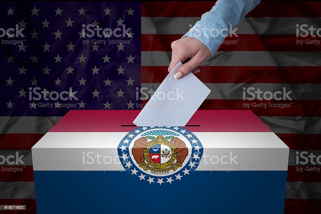Ballot Box - Election - Missouri, USA stock photo