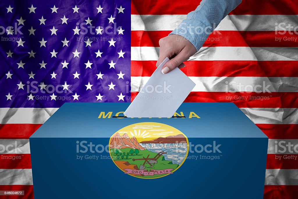 Ballot Box - Election - Montana, USA stock photo