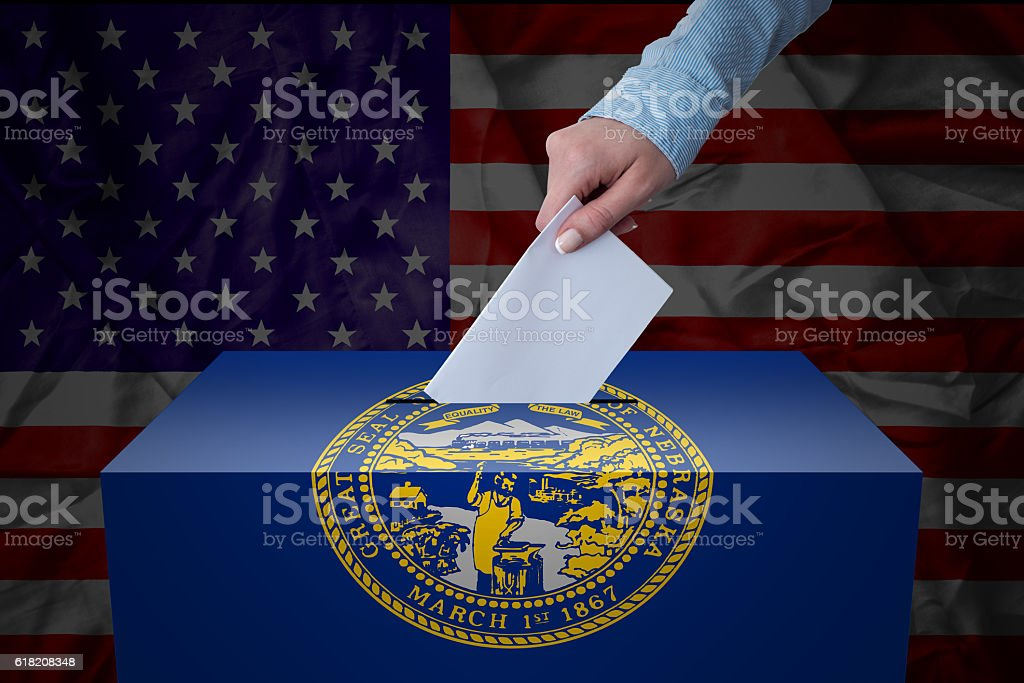 Ballot Box - Election - Nebraska, USA stock photo
