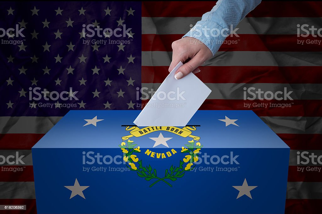 Ballot Box - Election - Nevada, USA stock photo