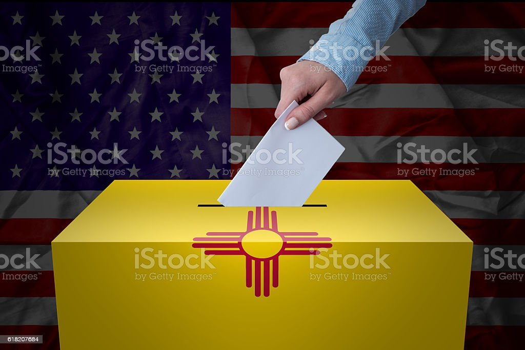 Ballot Box - Election - New Mexico, USA stock photo