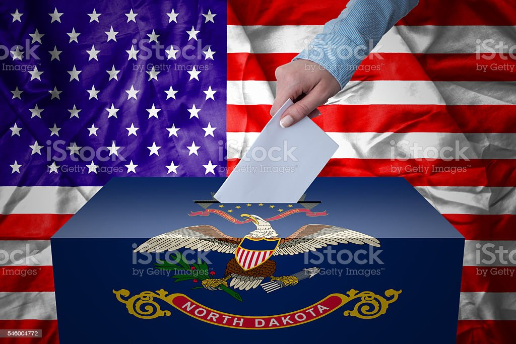 Ballot Box - Election - North Dakota, USA stock photo