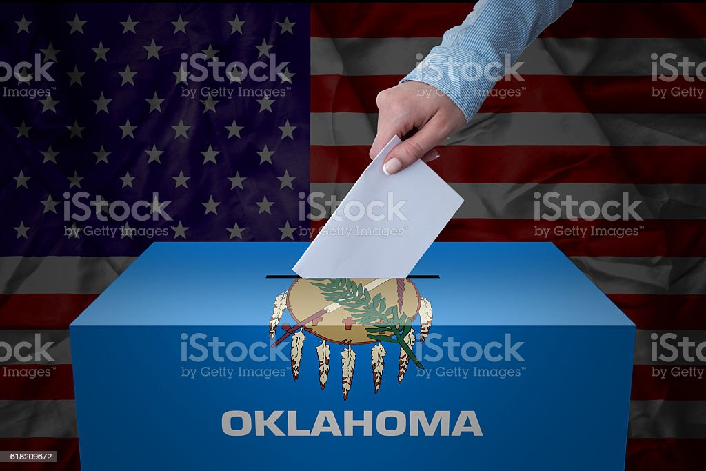 Ballot Box - Election - Oklahoma, USA stock photo