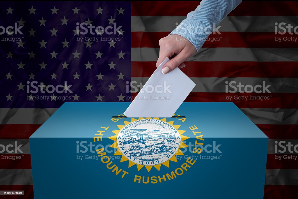 Ballot Box - Election - Outh Dakota, USA stock photo