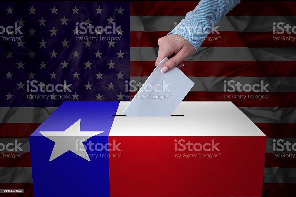 Ballot Box - Election - Texas, USA stock photo