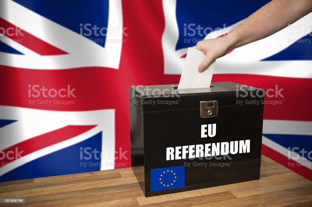 Ballot Box - Election - UK _ EU stock photo