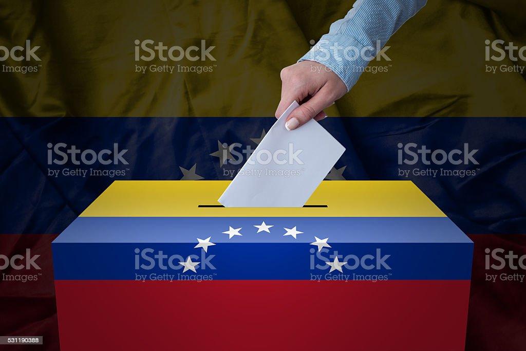 Ballot Box - Election - Venecuela stock photo