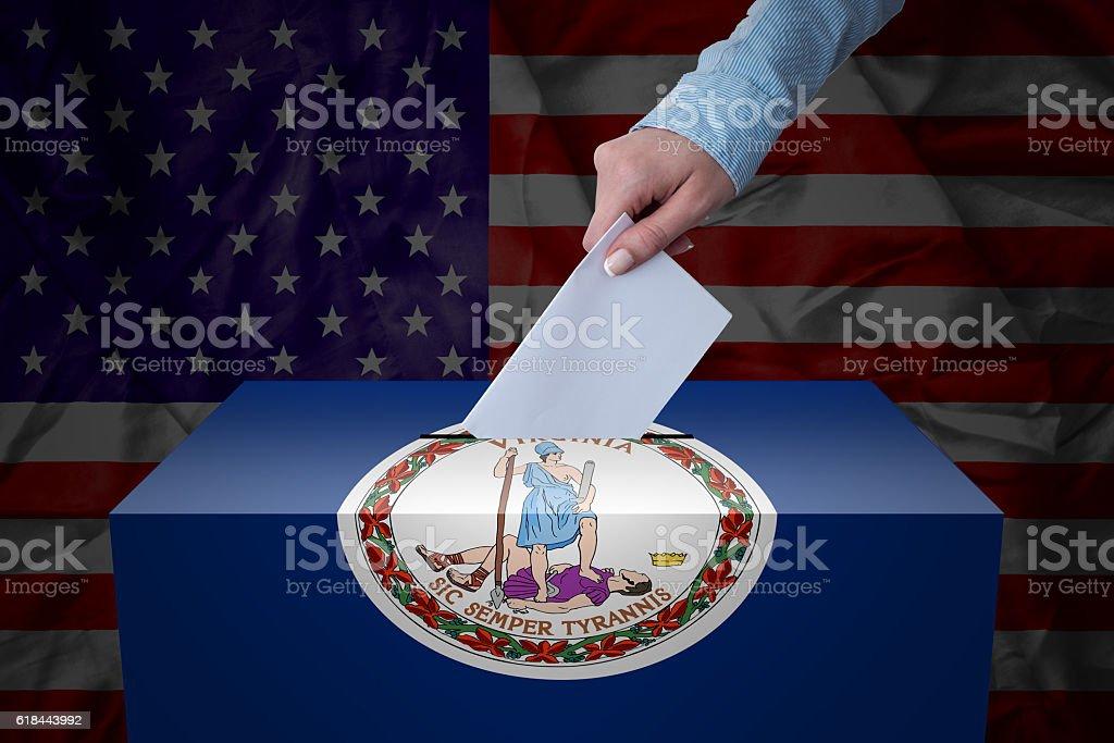 Ballot Box - Election - Virginia, USA stock photo