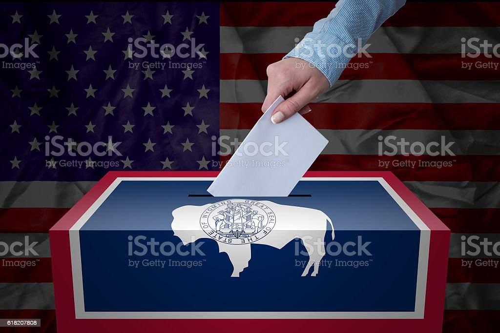 Ballot Box - Election - Wyoaming, USA stock photo