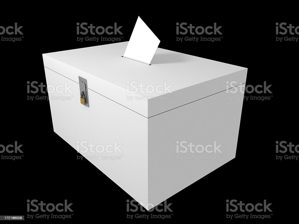 Ballot Box (Isolated with Clipping Path) stock photo